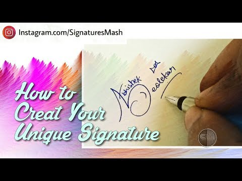 How to Draw Your Unique Signature