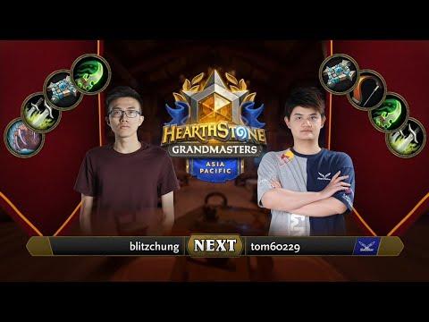 blitzchung vs tom60229   2021 Hearthstone Grandmasters Asia-Pacific   Decider   Season 1   Week 5