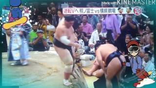 横綱 鶴竜 横綱昇進後 初優勝! 2015年9月27日 秋場所千秋楽 鶴...