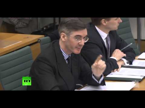 Jacob Rees-Mogg clashes with Mark Carney over