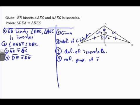 Triangle Proof Example 7 - YouTube