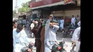 PPP workers firing in sukkur