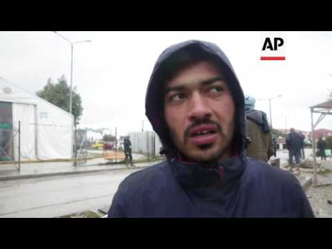 Migrants on Lesbos face harsh winter conditions