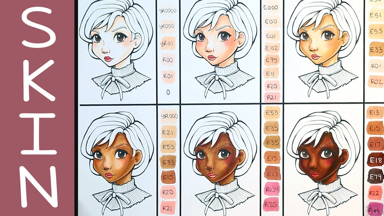 Copic skin colour combinations youtube nvjuhfo Gallery