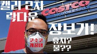 캘리 2차 락다운 코스트코 개 꿀탬 장보기 - 미국 한국 가격 비교 해보세요 휴지?