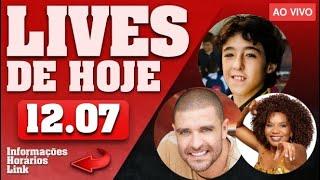 LIVES DE HOJE (DOMINGO 12/07 - LIVE AO VIVO) - LIVES AO VIVO AGORA
