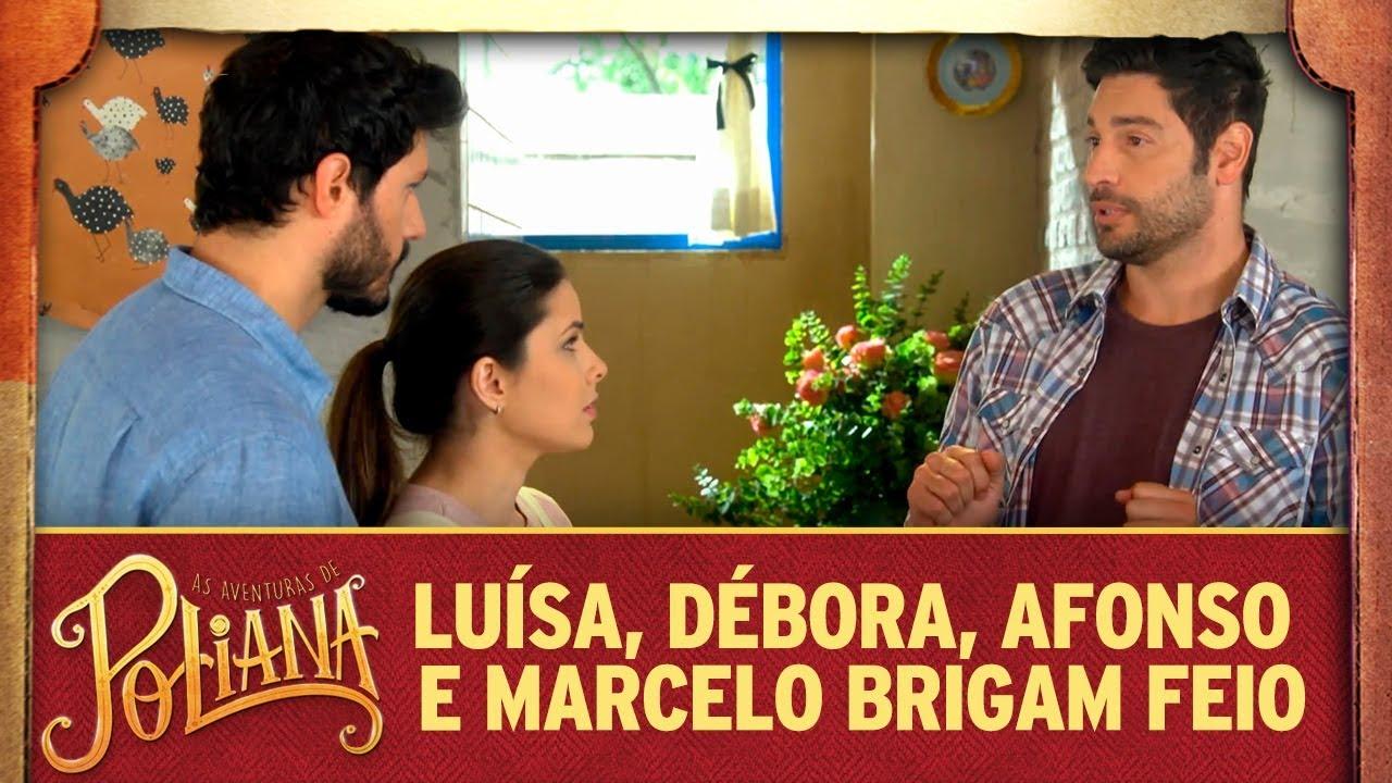 Luísa, Débora, Afonso e Marcelo brigam feio | As Aventuras de Poliana