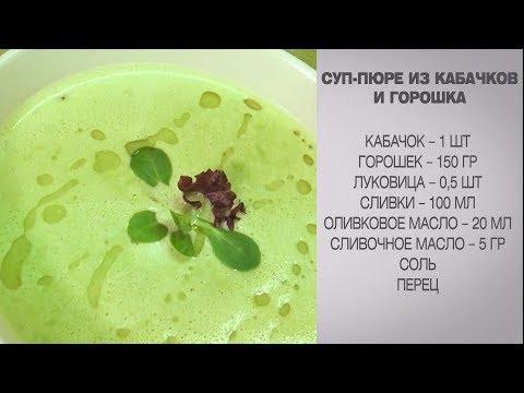 суп пюре из кабачков рецепт пошагово