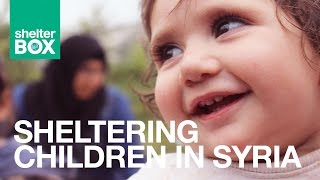 Sheltering children in Syria