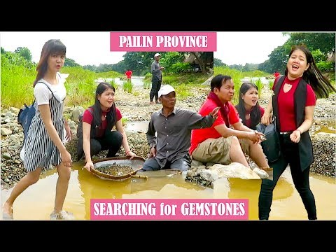 Searching for Gemstones under Tuol Lvea Bridge at Pailin Province | Ruby Mining Area in Cambodia