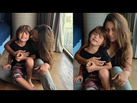 Shahrukh son Abram Khan enjoying his birthday with mom Gauri Khan