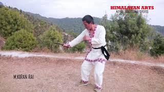 Gurkhas khukuri knife tranning technique by M.kiran rai (part 4)