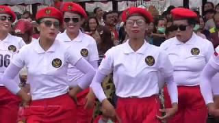 Emak Emak Gerak Jalan Indah PKK Ds Yangapi Bangli