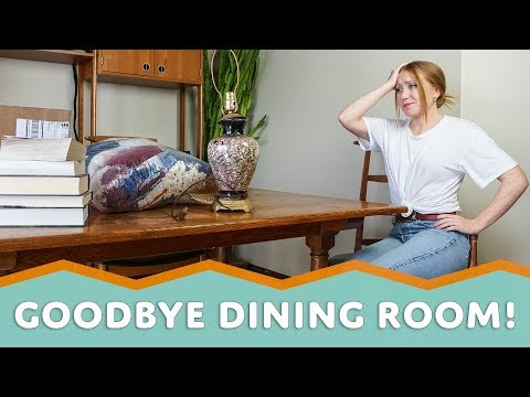 COMFY MUSIC LOUNGE on a Budget | Part 1 - Goodbye Dining Room! (2018)