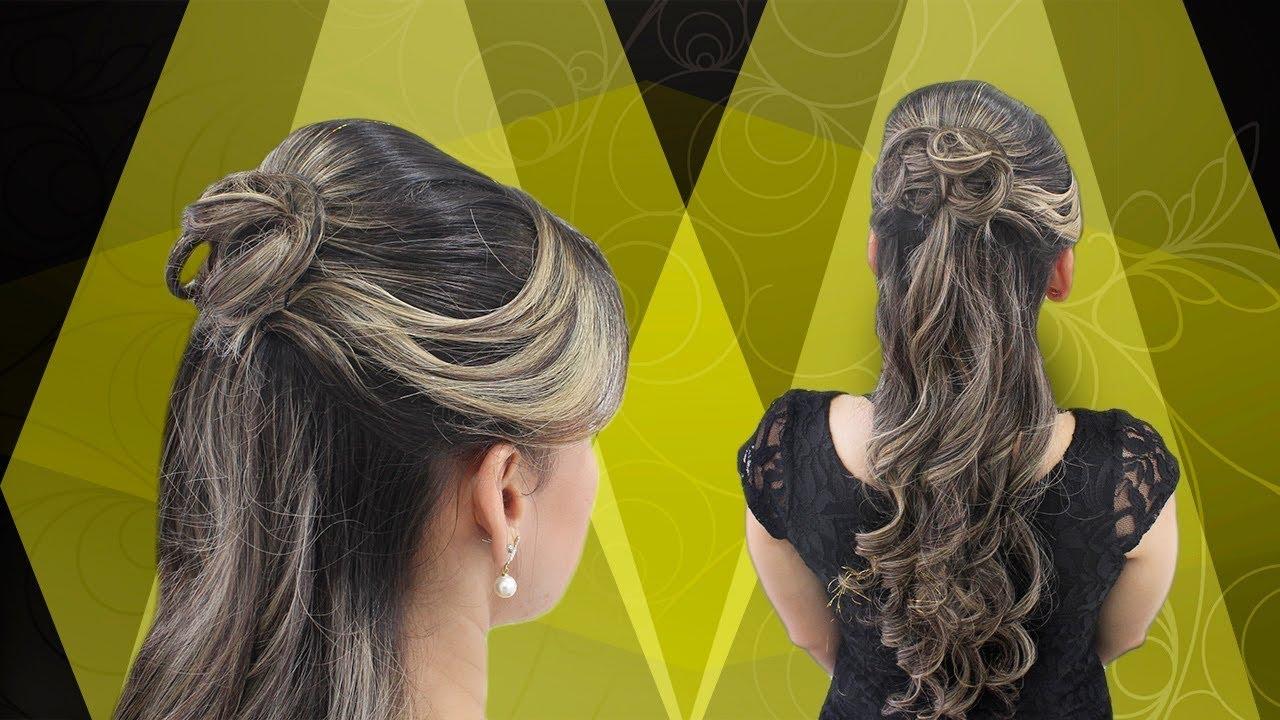 Peinado Para Graduacion Peinado Con Ondas Rizos Youtube
