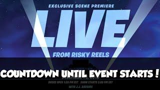 NEW! Star wars fortnite event in Risky Reels LIVE countdown!