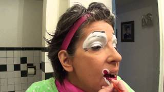 The proper way to apply clown makeup: demo