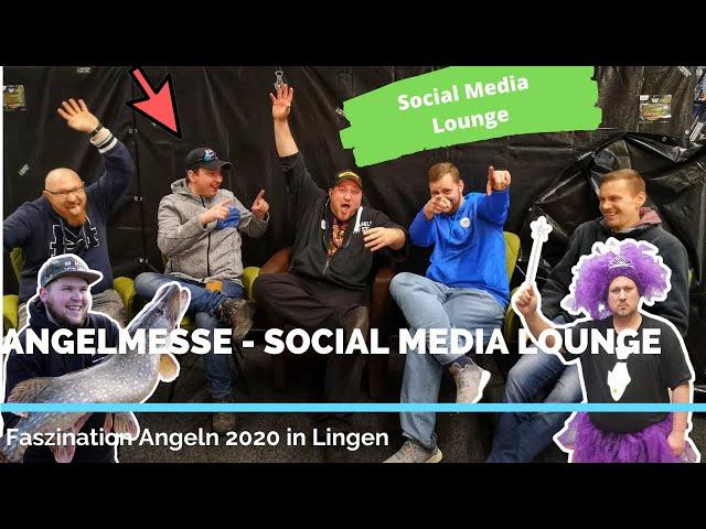 Angelmesse Faszination Angeln in Lingen 2020 | Social Media Lounge, Gäste und Messe