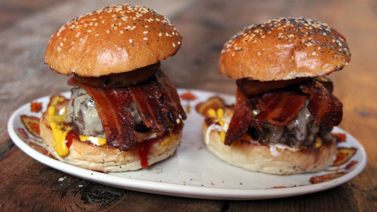 Candied Bacon Beer Burger Aka The Brad Sandwich The Craft Beer Channel Youtube