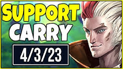I'M THE CARRY NOW! RAKAN SUPPORT SOLO CARRY! - League of Legends