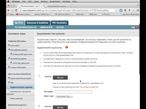 Thesis & Dissertation Prep 4: ETD Administrator Walkthrough II