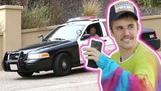 Justin Bieber Stopped By Cops For 'Security Tag' On $600 Designer Sneakers
