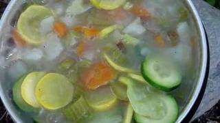 Vegetable Camp Stew: Cooking With A Trangia Alcohol Stove