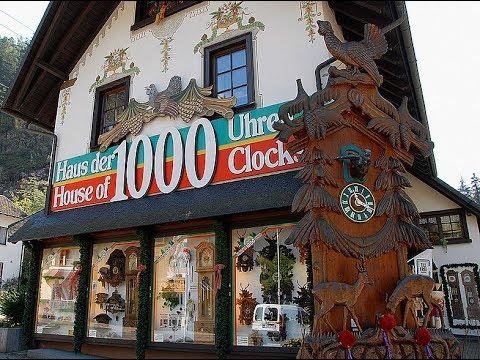 Города Германии. Сказочный город Триберг в Шварцвальде. Музей часов с Кукушками.