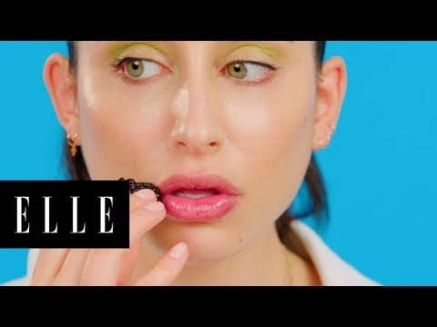 Watch This Girl Do A Full Face Makeup Using A Salad | Foodie Beauty | ELLE