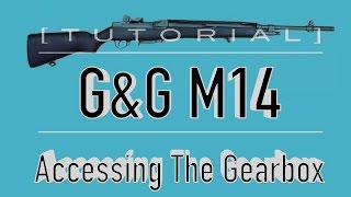 [TUTORIAL] G&G M14 Takedown/Disassembly: Accessing The Gearbox
