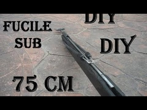 How to make a very simple trigger mechanism speargun 75 cm - DIY speargun - YouTube