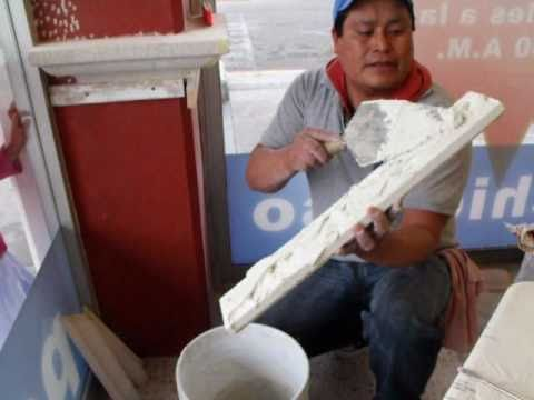 Instalacion de molduras de concreto celular aligerado - Molduras de escayola para techos ...