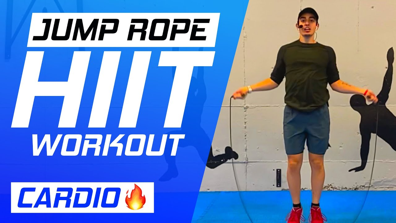 JUMP ROPE HIIT WORKOUT- Cardio workout with Coach Trevor (High Intensity!)