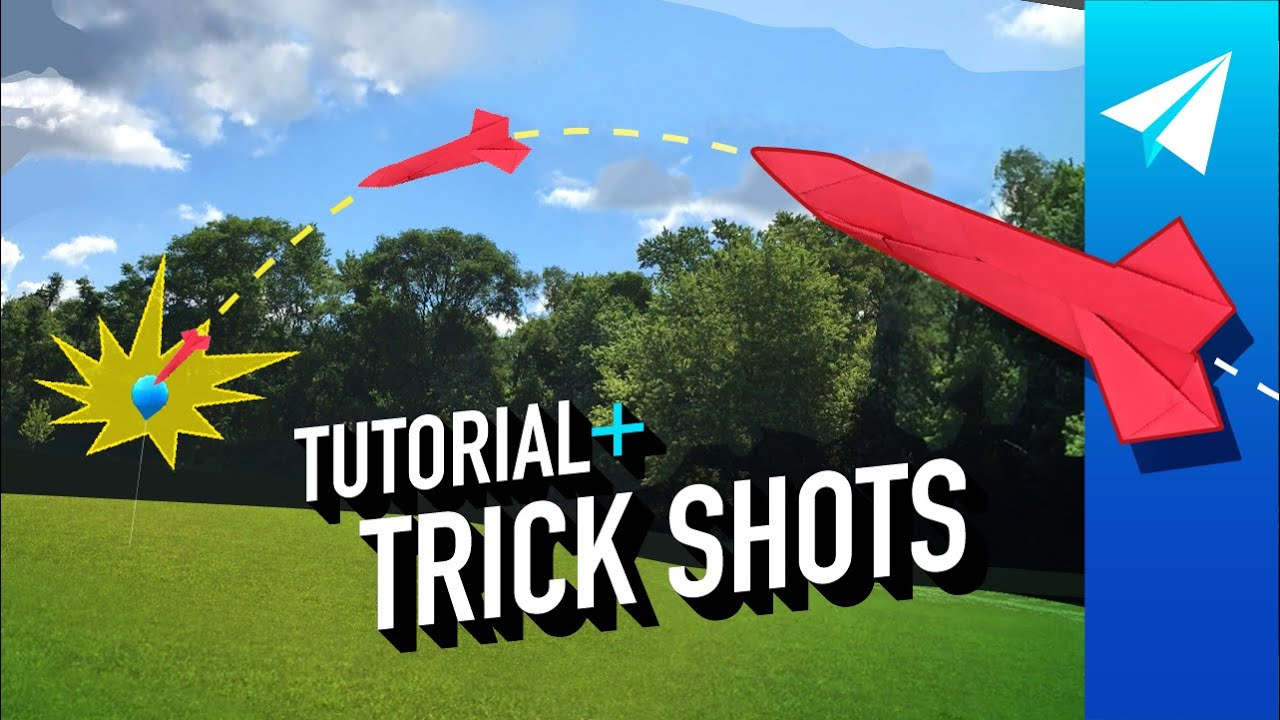 Paper Airplane Trick Shots and Tutorial — DEADLY ACCURATE Origami Missile —Easy to Fold + FLIES FAR
