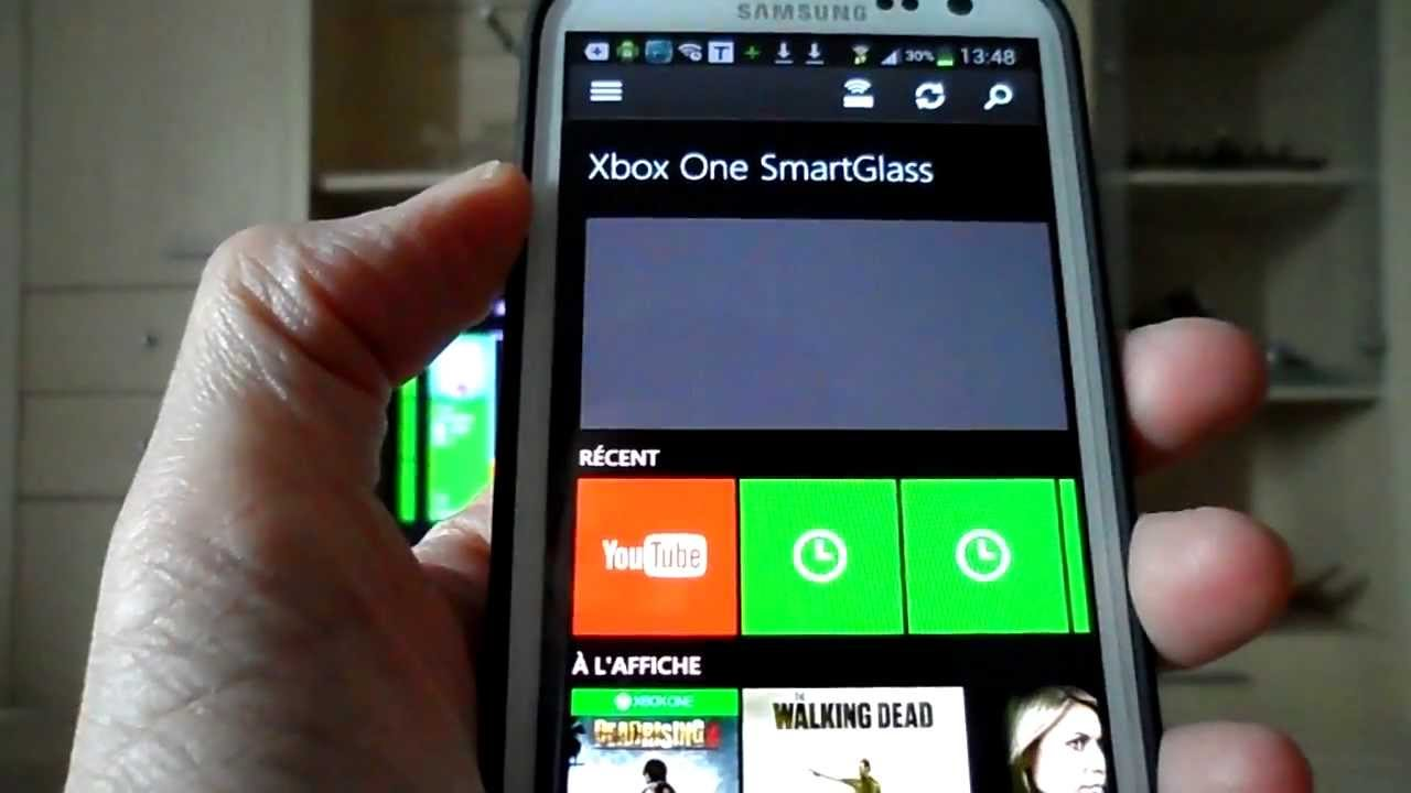 Xbox One SmartGlass l' application android mobile