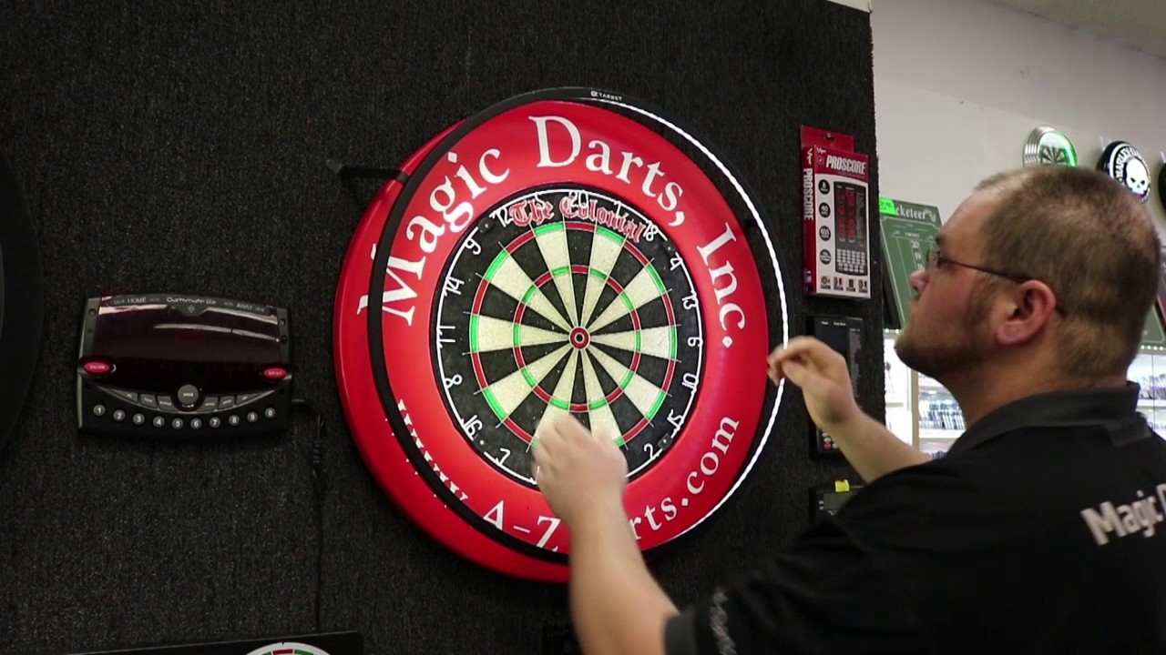 how to use a target vision 360 lighting system for home soft tip dart boards