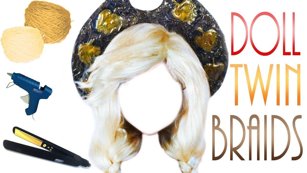 Twin Braid Yarn Doll Wig [ Applejack MLP OOAK ]