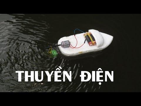 Làm thuyền động cơ điện đơn giản - Làm đồ chơi