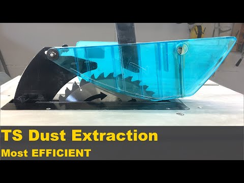 Table saw dust collection improvement