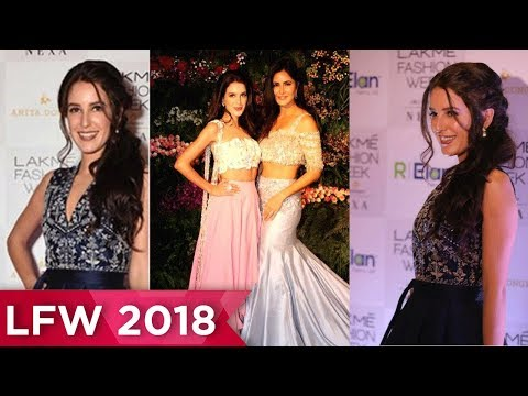 IsabelleKaif FIRST Appearance At Lakme Fashion Week 2018
