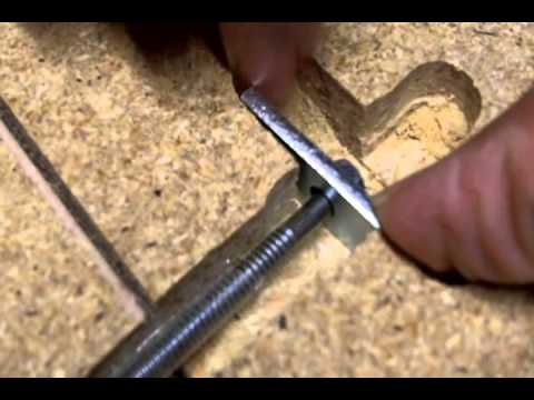 Countertop Joining Bolts : How to Use Miter Bolts to Attach 2 Pieces of Countertop - YouTube