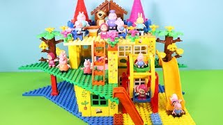 Peppa Pig Building Blocks House Toys For Kids - Lego Duplo House With Water Slide Creations Toys #5