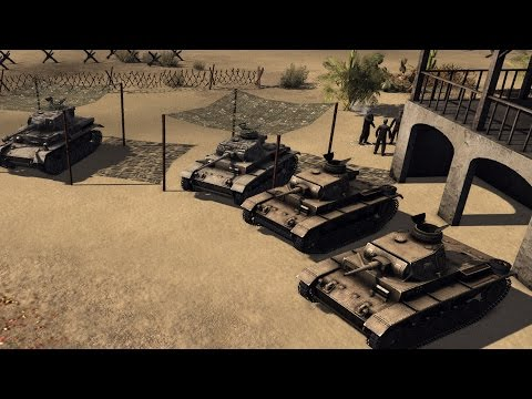 German Afrikan Line Defense! - Men of War Assault Squad 2 Mo