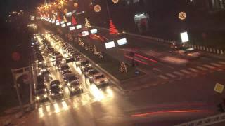 Skopje, Macedonia Traffic Time Lapse 2011
