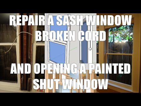 Repairing An Old Window Sash Cords And Attaching The