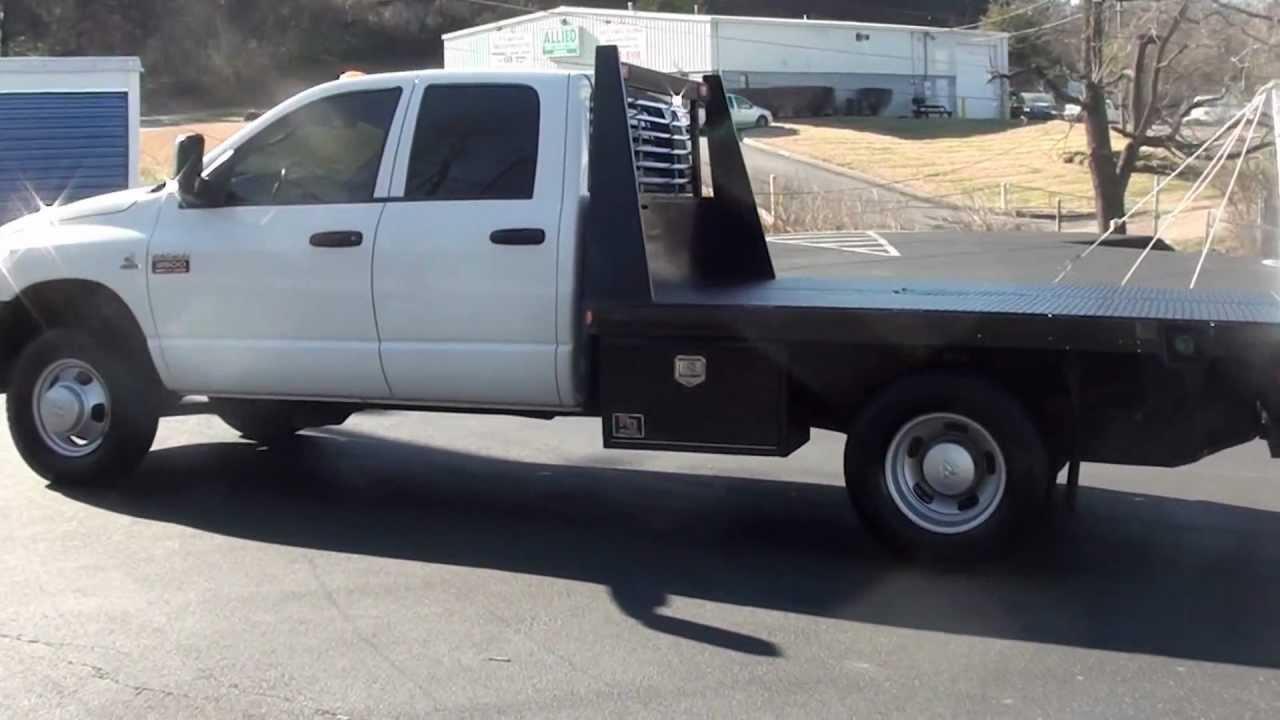 for sale 2007 dodge ram drw flatbed work truck diesel 87k miles stk 20508a. Black Bedroom Furniture Sets. Home Design Ideas