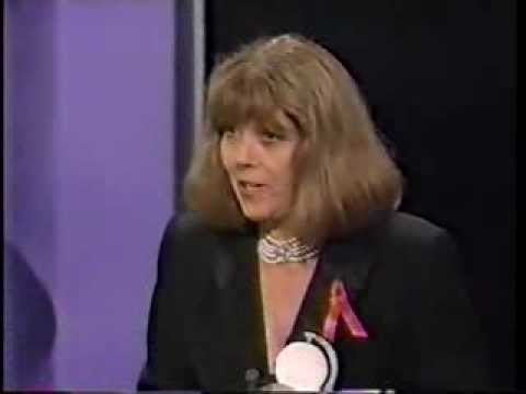 Diana Rigg wins 1994 Tony Award for Best Actress in a Play