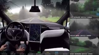 فيديو يبين طريقة كشف سيارة تسلا الذاتية القيادة للطريق