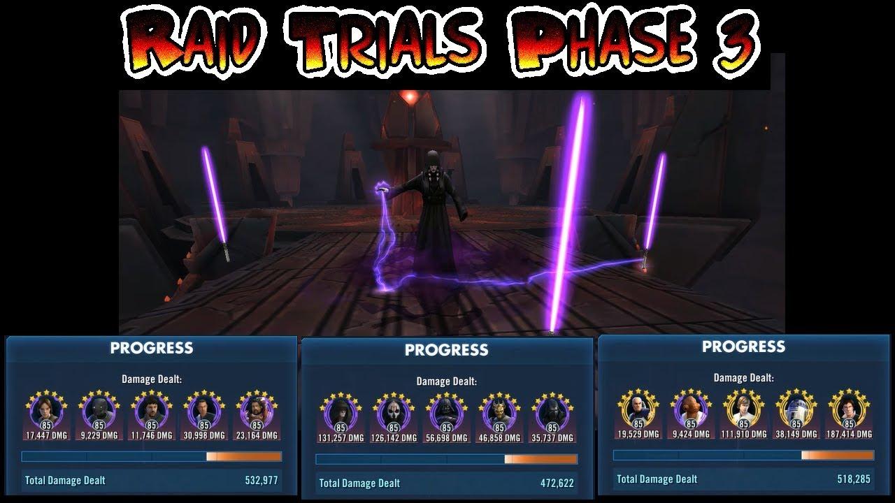 SWGOH - Raid Trials: Tier 6 Phase 3 The Sith Triumvirate - Star Wars Galaxy  of Heroes