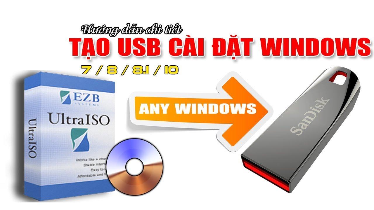 Chu Đặng Phú hướng dẫn TẠO USB CÀI ĐẶT WINDOWS 7/8/8.1/10 BẰNG ULTRA ISO mới nhất 2018